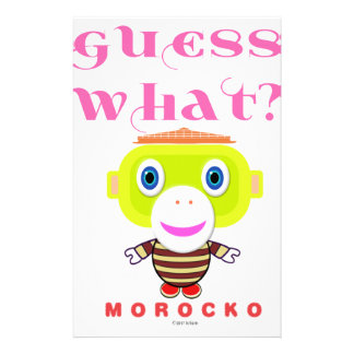 Guess What-Cute Monkey-Morocko Stationery