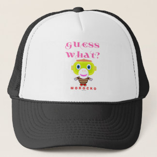 Guess What-Cute Monkey-Morocko Trucker Hat