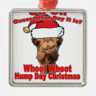 Guess What Day Christmas is on this year Tshirt mk Silver-Colored Square Decoration