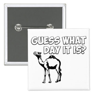 Guess What Day it Is Hump Day Camel Buttons