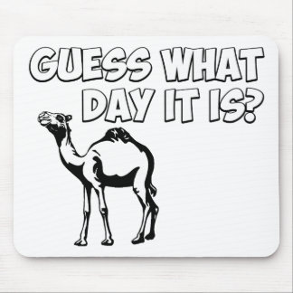 Guess What Day it Is? Hump Day Camel Mouse Pads