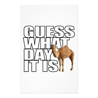 Guess What Day It Is Hump Day Camel Personalized Stationery
