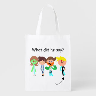 Guess What He Say Reusable Shopping Bag