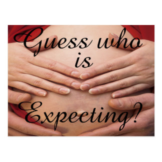 Guess who is expecting Cards and Gifts. Postcard