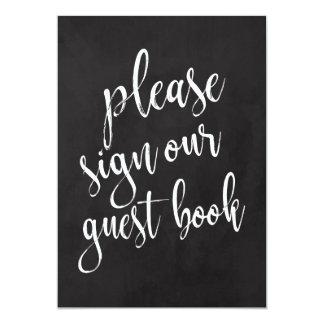 Guest Book Affordable Chalkboard Wedding Sign Card