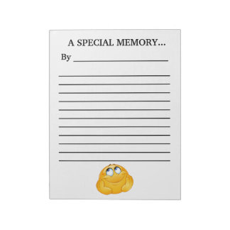 Guest Book Memory Note Pad
