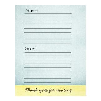 Guest book Paper 21.5 Cm X 28 Cm Flyer