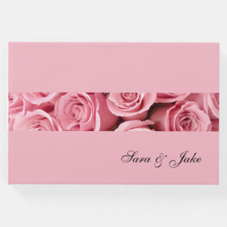 Guest Book-Pink Roses Guest Book