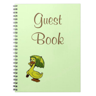 Guest Book Vintage Rubber Duck Theme Baby Shower Notebook