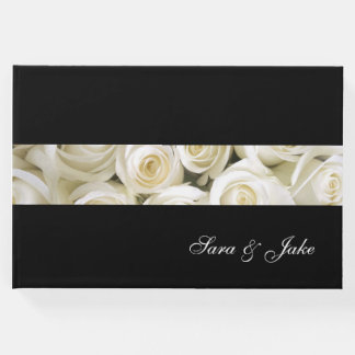 Guest Book-White Roses Guest Book