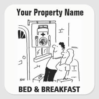 Guest House Cartoon Stickers
