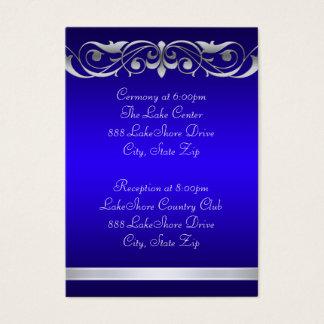Guest Info Business Card Blue