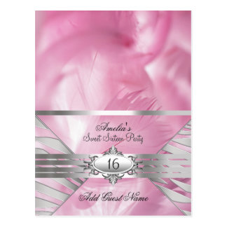 Guest Name Cards Pink Sweet 16