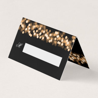 Guest Place Card Wedding Gold Hollywood Glam