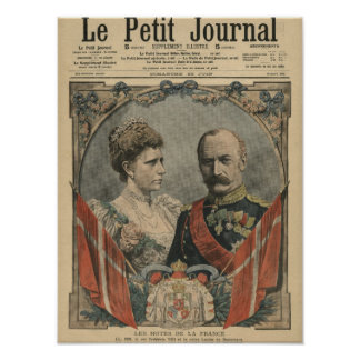 Guests of France, King Frederick VIII  and Queen Poster