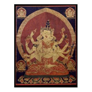 Guhyasamaja Tibetan Buddhist Deity Postcard