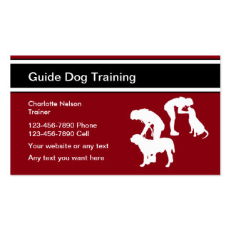 Guide Dog Trainer Pack Of Standard Business Cards