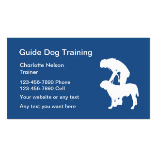 Guide Dog Training Pack Of Standard Business Cards