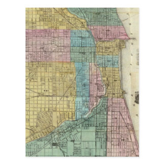 Guide Map of Chicago Postcard