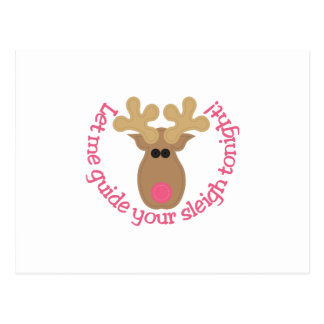 Guide Your Sleigh Postcard