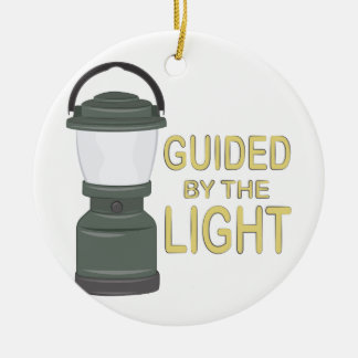 Guided By Light Round Ceramic Decoration