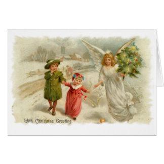Guiding  Angel Greeting Card