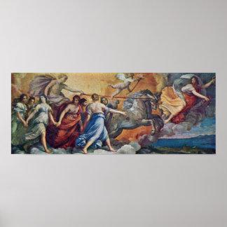 Guido Reni - Aurora following Apollo in his car Poster