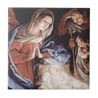 Guido_Reni_Birth Of Christ Ceramic Tile