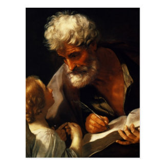 Guido Reni- Saint Matthew Postcard