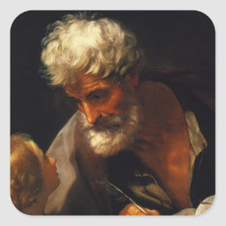 Guido Reni- Saint Matthew Square Sticker