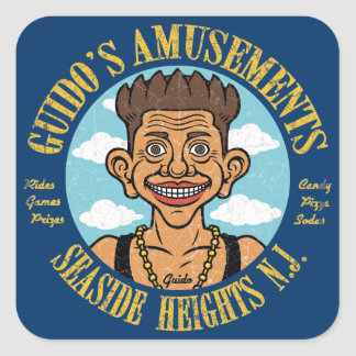 Guido's Amusement Square Sticker