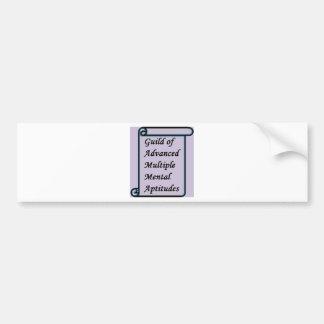 Guild of Advanced Multiple Mental Aptitudes store Bumper Sticker