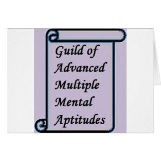 Guild of Advanced Multiple Mental Aptitudes store Card