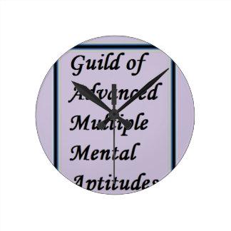Guild of Advanced Multiple Mental Aptitudes store Round Clock
