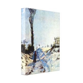 Guillaumin - Walking in snow Gallery Wrapped Canvas