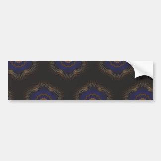 Guilloche Netted Patterns blck Bumper Sticker