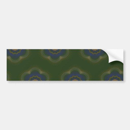 Guilloche Netted Patterns green Bumper Sticker