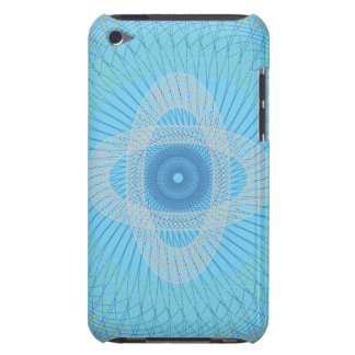 Guilloche Pattern 2 blue iPod Touch Covers