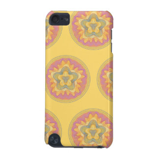 Guilloche Pattern yellow iPod Touch (5th Generation) Cases