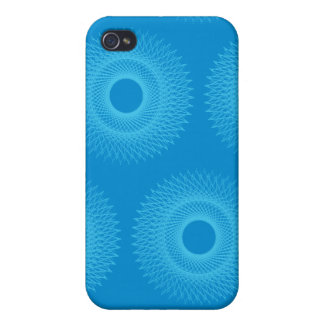 Guilloche Perspective blues iPhone 4 Case