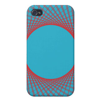 Guilloche Perspective Lines deep purple Cases For iPhone 4