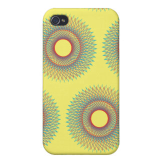 Guilloche Perspective Lines yellows iPhone 4/4S Covers