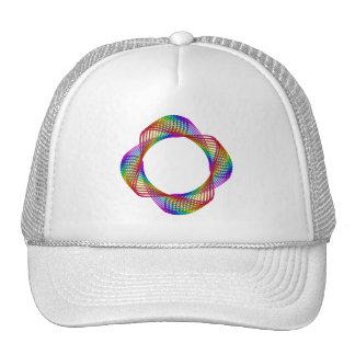 Guilloché Spirograph Motif Hat