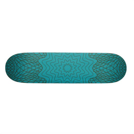 Guilloche Web brown teal Skateboards