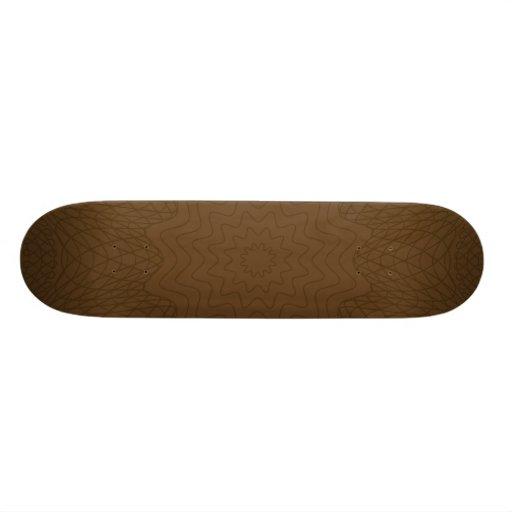 Guilloche Web browns Skate Boards