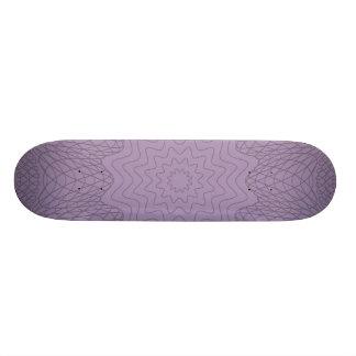 Guilloche Web Pattern purples 20 Cm Skateboard Deck
