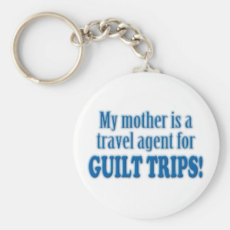 Guilt Trips Basic Round Button Key Ring