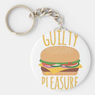 Guilty Pleasure Basic Round Button Key Ring