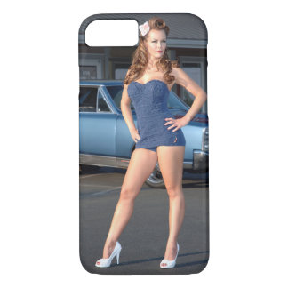 Guilty Pontiac GTO Vintage Swimsuit Pin Up Girl iPhone 8/7 Case