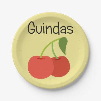 Guindas (Cherries) Paper Plate